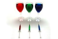 Inyecte el alcohol Foto de archivo