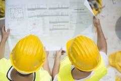 Inżynierów budowniczowie Zdjęcia Stock