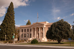Inyo County Courthouse Main Street Highway 395 Independence California. The county courthouse in Independence California Stock Photo