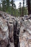 The Inyo Earthquake Fault in Mammoth Lakes California.  royalty free stock photos
