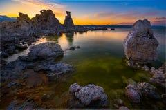 Inyo lasu państwowego Sceniczny Teren Mono jezioro Obrazy Royalty Free