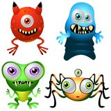 Inzameling 013 van het Ontwerp van het karakter: De Monsters van de baby Royalty-vrije Stock Afbeelding