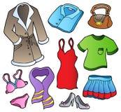 Inzameling 1 van de kleding royalty-vrije illustratie