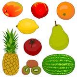 Inzameling 1 van het fruit Stock Afbeelding
