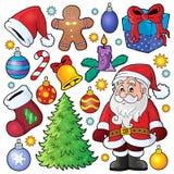 Inzameling 1 van het Kerstmisthema Stock Afbeeldingen