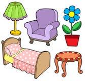 Inzameling 1 van het meubilair Royalty-vrije Stock Afbeelding