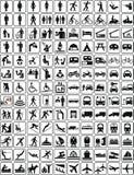 Inzameling 1 van tekens (+ vector) Stock Fotografie