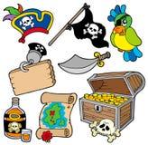 Inzameling 10 van de piraat Stock Fotografie