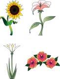 Inzameling 2 van de bloem Royalty-vrije Stock Afbeelding