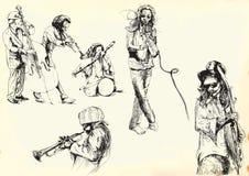 Inzameling 2 van musici Stock Afbeeldingen