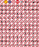 Inzameling 3 van tekens - Geen teken (+ vector) Royalty-vrije Stock Fotografie