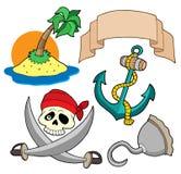 Inzameling 4 van de piraat Stock Foto