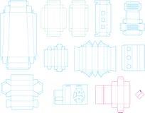 Inzameling 07 eps van het doosmalplaatje vector illustratie