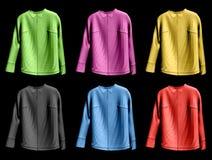 Inzameling kleurrijk van jaket. Vector illustratie Stock Afbeeldingen