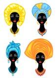 inzameling Silhouet van een hoofd van een zoete dame E E vector illustratie