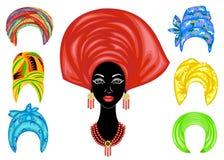 inzameling Silhouet van een hoofd van een zoete dame E E stock illustratie