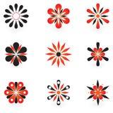 Inzameling van 9 vectorontwerpelementen Stock Foto