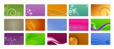 Inzameling van abstracte achtergronden Stock Afbeelding