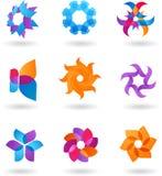 Inzameling van abstracte emblemen Stock Foto