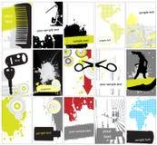 Inzameling van abstracte grungeachtergrond stock illustratie