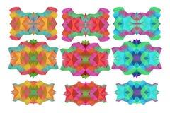 Inzameling van Abstracte kleurrijke die illustraties van driehoek p worden gemaakt vector illustratie