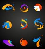 inzameling van abstracte pictogrammen royalty-vrije illustratie
