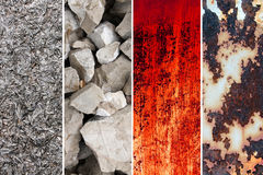 Inzameling van achtergronden en verschillende texturen Stock Foto