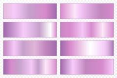 Inzameling van achtergronden met een metaalgradiënt Briljante platen met ultraviolet effect Vector illustratie stock illustratie