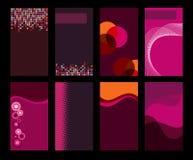 Inzameling van Adreskaartjes stock illustratie