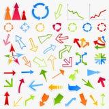 Inzameling van arrows6 Royalty-vrije Stock Afbeeldingen