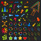 Inzameling van arrows8 Stock Afbeelding