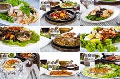 Inzameling van Aziatisch voedsel stock afbeeldingen