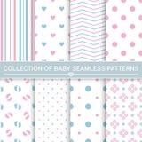 Inzameling van baby naadloze patronen Royalty-vrije Stock Afbeelding