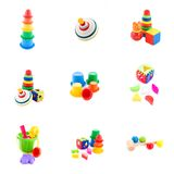 Inzameling van babyspeelgoed Stock Fotografie