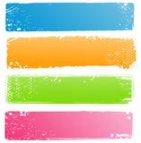 Inzameling van Banners Grunge in Moderne Kleuren Royalty-vrije Stock Foto's