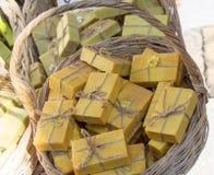 Inzameling van bars van hand - gemaakte zeep Royalty-vrije Stock Afbeelding