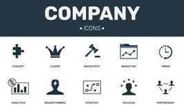 Inzameling van bedrijf de vastgestelde pictogrammen Omvat eenvoudige elementen zoals Leider, Brainstorming, Vennootschap, Succes  vector illustratie