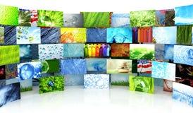 Inzameling van beelden Stock Afbeelding