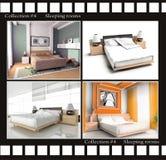 Inzameling van beelden van slaapruimten royalty-vrije illustratie