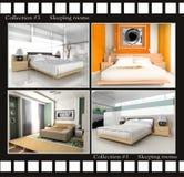 Inzameling van beelden van slaapruimten vector illustratie