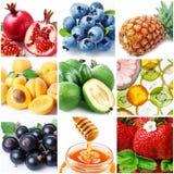 Inzameling van beelden van voedsel stock afbeeldingen