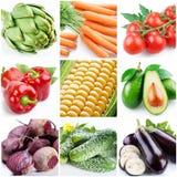 Inzameling van beelden van voedsel Royalty-vrije Stock Fotografie