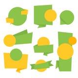 Inzameling van Bitmap Abstract Etiket, Sticker, Markeringen Vector Illustratie