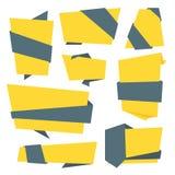 Inzameling van Bitmap Abstract Etiket, Sticker, Markeringen Royalty-vrije Illustratie