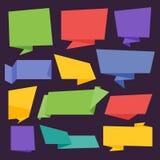 Inzameling van Bitmap Abstract Etiket, Sticker, Markeringen Stock Illustratie