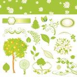 Inzameling van blad en boom Stock Foto's