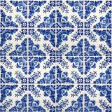 Inzameling van blauwe patronentegels Royalty-vrije Stock Afbeeldingen