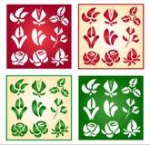 Inzameling van bloemen Stock Afbeelding