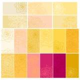 Inzameling van bloemenachtergronden met rozen Royalty-vrije Stock Afbeeldingen