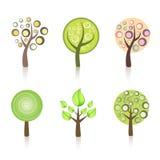 Inzameling van bomen royalty-vrije illustratie
